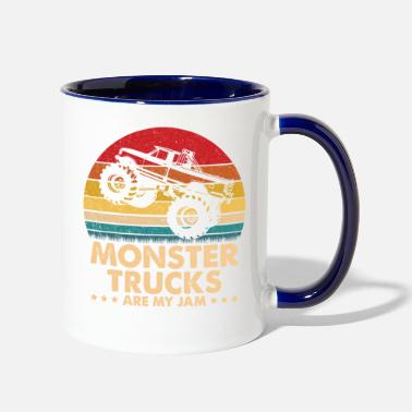 Monster Vintage Monster Truck Are My Jam - Two-Tone Mug