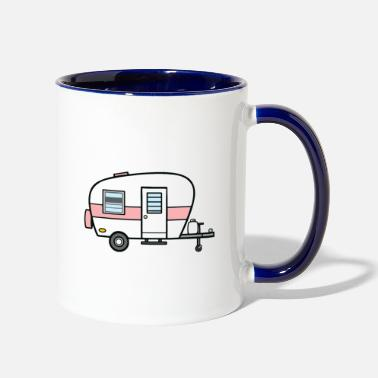 Travel Let's Go On an Adventure Travelling Camping - Two-Tone Mug