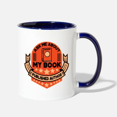 Book book author book books gift - Two-Tone Mug