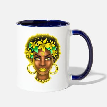 Astrology Virgo Zodiac Sign Black Girl Magic Astrology Melan - Two-Tone Mug