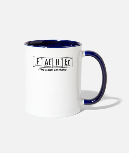 Dad Bod Mugs & Cups - For Father and Son I Perfect Gift for Fathers Day - Two-Tone Mug white/cobalt blue