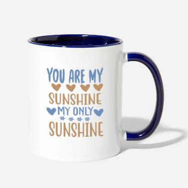 Mountains You are my - Adventure Design - Two-Tone Mug