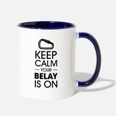Wall Keep calm your belay is on Climbing - Two-Tone Mug