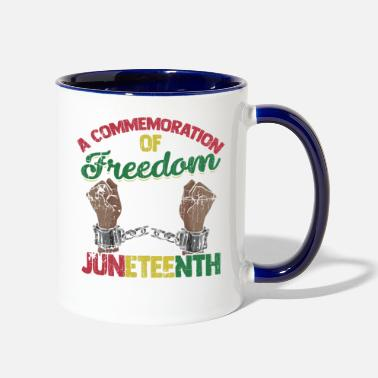 Afro A Commemoration of Freedom Juneteenth - Two-Tone Mug