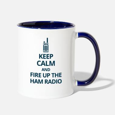 Radio Amateur Ham Radio Operator Dad Grandpa Gift - Two-Tone Mug
