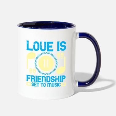 Latest Love Is Friendship Set To Music - Two-Tone Mug