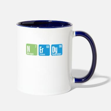 Intelligent Nerdy chemistry periodic table - Two-Tone Mug