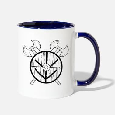 Shield Maid Shield Maid Norse Mythology Viking - Two-Tone Mug
