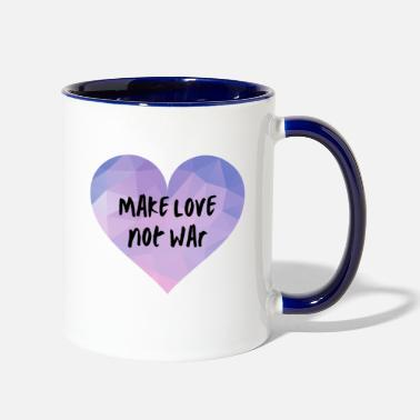 Make Love Not War Make Love Not War | LGBTQI+ | QUEER | ALLY - Two-Tone Mug