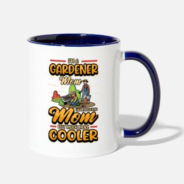 Cucumber Garden Mom Mothers Day Saying Gardening Gift - Two-Tone Mug