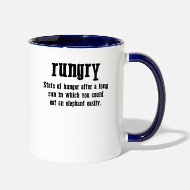 Ultras Jogger Is Hungry And Angry Hungry Jogging Workout - Two-Tone Mug