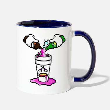 Ds2 pouruppink2 - Two-Tone Mug