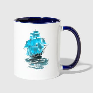 sailing ship - Contrast Coffee Mug