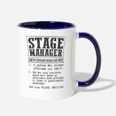 Stage Stage Manager Definition Gift Mug - Two-Tone Mug