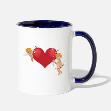 Cupido kisspng arrow cupid bow vector cupid and arrows 5a - Contrast Coffee Mug