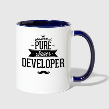100 percent pure super developer - Contrast Coffee Mug