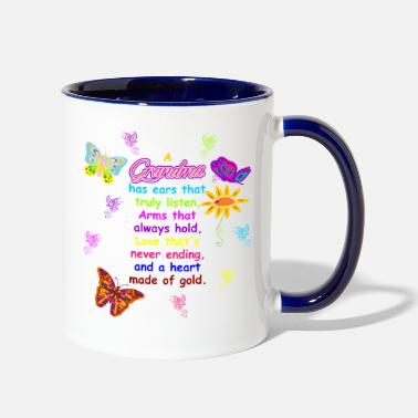 Gold A Grandma Has Ears That Truly Listen - Two-Tone Mug