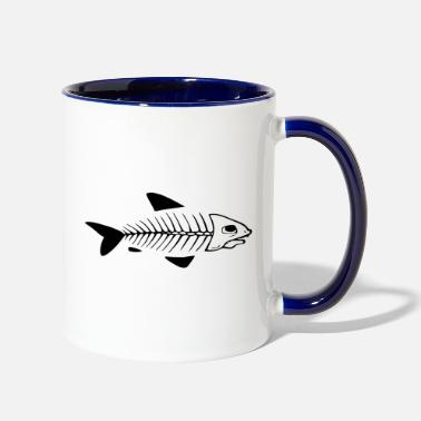 Blasen Fish skeleton white - Contrast Coffee Mug