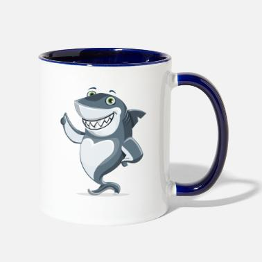 Amusing amusing shark - Two-Tone Mug