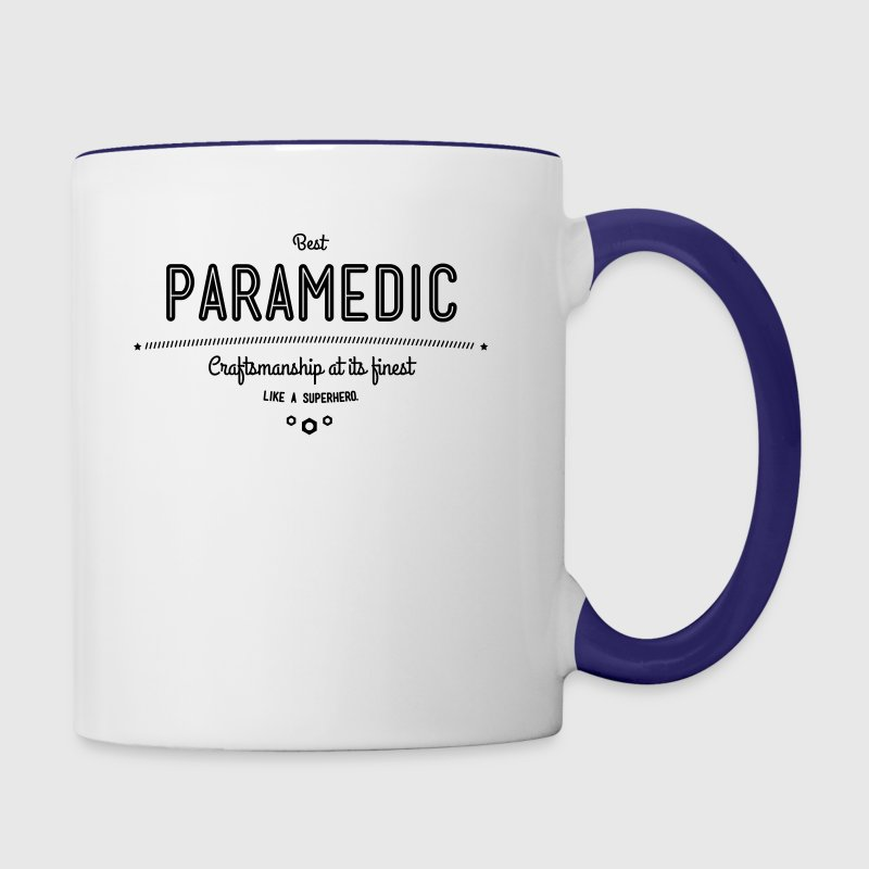 best paramedic - craftsmanship at its finest - Contrast Coffee Mug