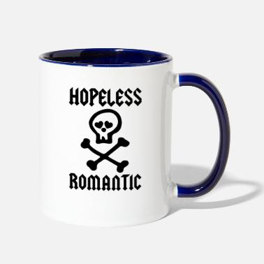 Romantic HOPELESS ROMANTIC - Two-Tone Mug
