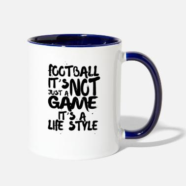 Game football it's not just a game it's a life style - Contrast Coffee Mug