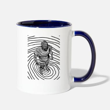 Body Art Human Body Line Art - Two-Tone Mug