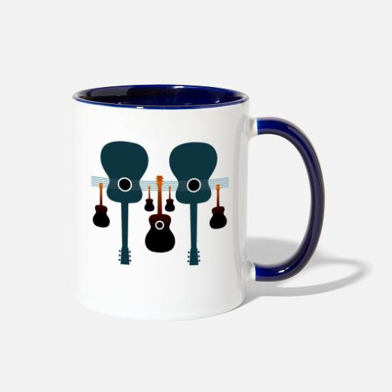 Bluegrass Mugs & Drinkware - Acoustic Guitars - Two-Tone Mug white/cobalt blue