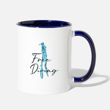 Freediving Freediving Apnoe - Contrast Coffee Mug
