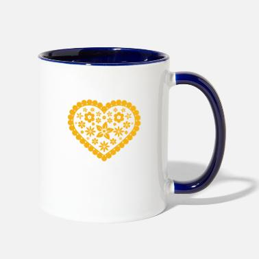 Ramdas heart 1 - Two-Tone Mug