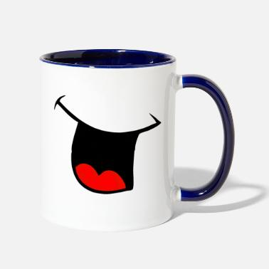 Laugh Laugh - Contrast Coffee Mug