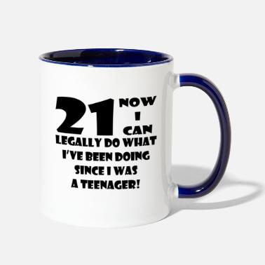 21st Birthday 21st Birthday - Contrast Coffee Mug
