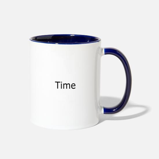 Times Mugs & Drinkware - Time - Two-Tone Mug white/cobalt blue
