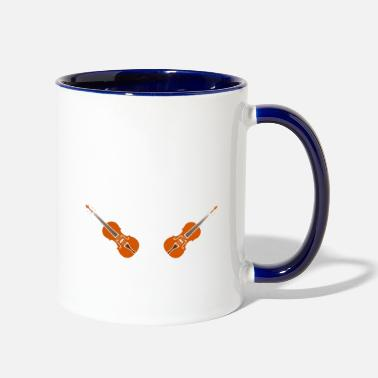 Play Keep Calm And Play Cello - Two-Tone Mug
