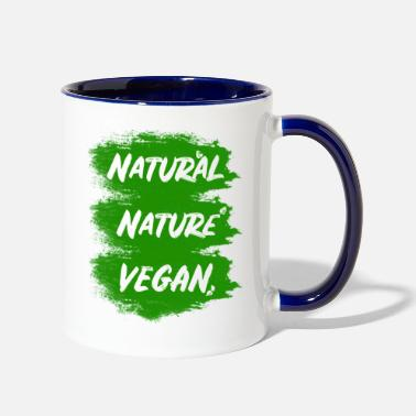 Natural Vegan - nature - natural - Two-Tone Mug