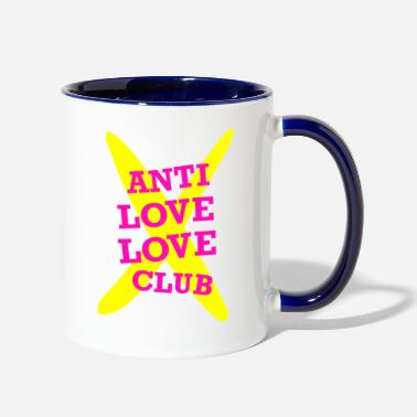 Anti Love LOGO ANTI LOVE X social - Two-Tone Mug