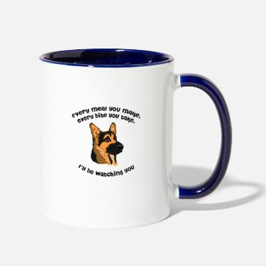 Snack Every meal German Shapperd - Contrast Coffee Mug