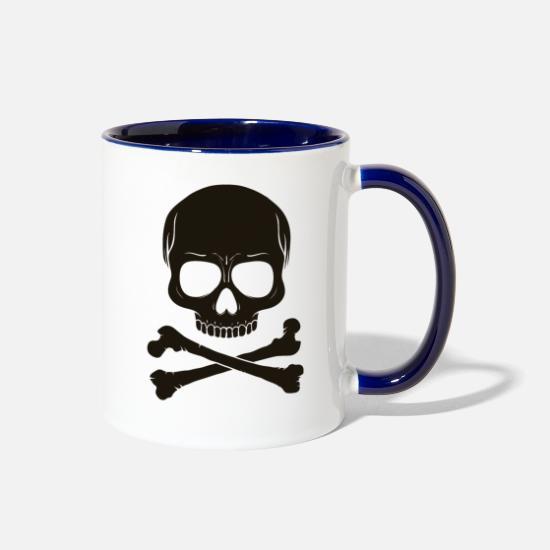 Danger Skull Two-Tone Mug | Spreadshirt