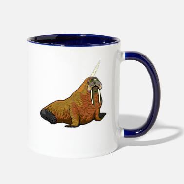 Walrus walrus unicorn - Two-Tone Mug