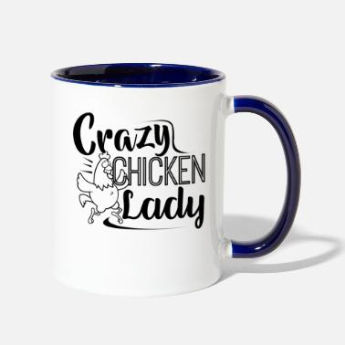 Chicken Crazy Chicken Lady Mug - Two-Tone Mug