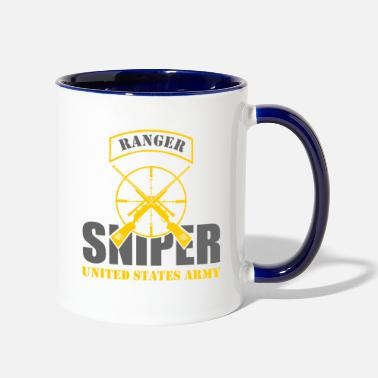 Sniper Tab Ranger US Army Team Sniper - Two-Tone Mug