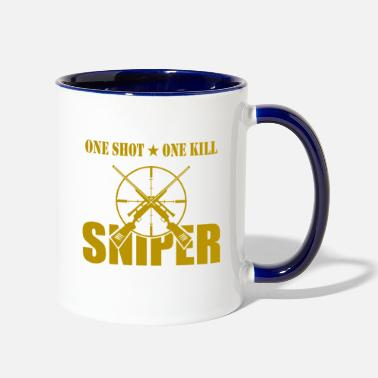 Sniper Tab ONE SHOT ONE KILL SNIPER - Two-Tone Mug