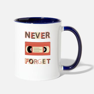 Vhs Tapes VHS Never Forget Cassette Tape Retro Vintage - Two-Tone Mug