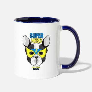 Super super hero dog 01 - Two-Tone Mug