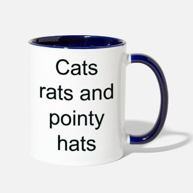 Pointy Cats rats and pointy hats - Contrast Coffee Mug
