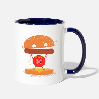 Exercise tomato exercise - Two-Tone Mug