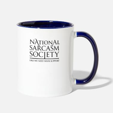 National Sarcasm Society - Two-Tone Mug