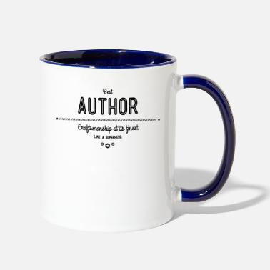 Mystery best author - craftsmanship at its finest - Two-Tone Mug