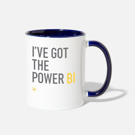 Power Mugs & Drinkware - I've Got the Power BI - Two-Tone Mug white/cobalt blue