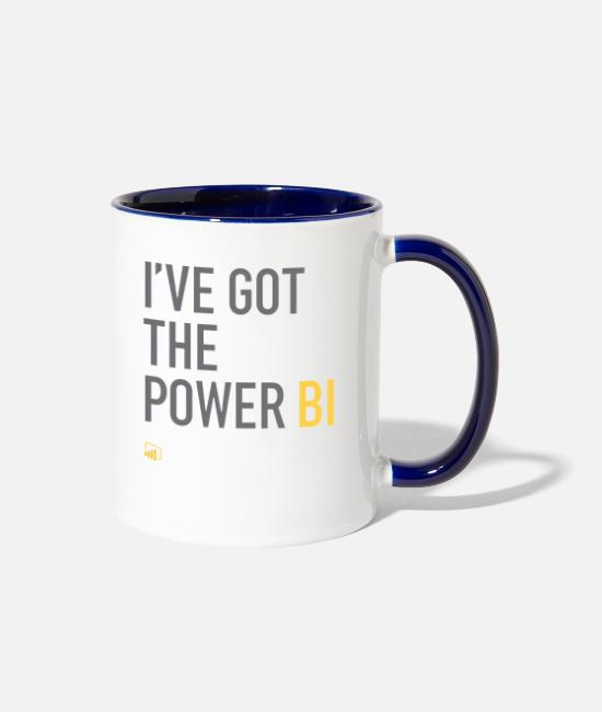 Excel Mugs & Cups - I've Got the Power BI - Two-Tone Mug white/cobalt blue